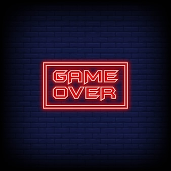 Game over neon style