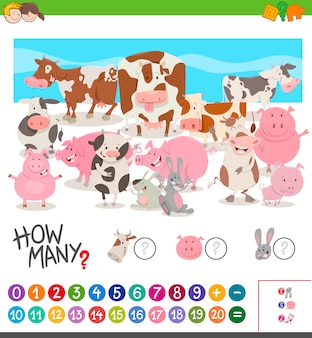 농장 동물을 세는 게임