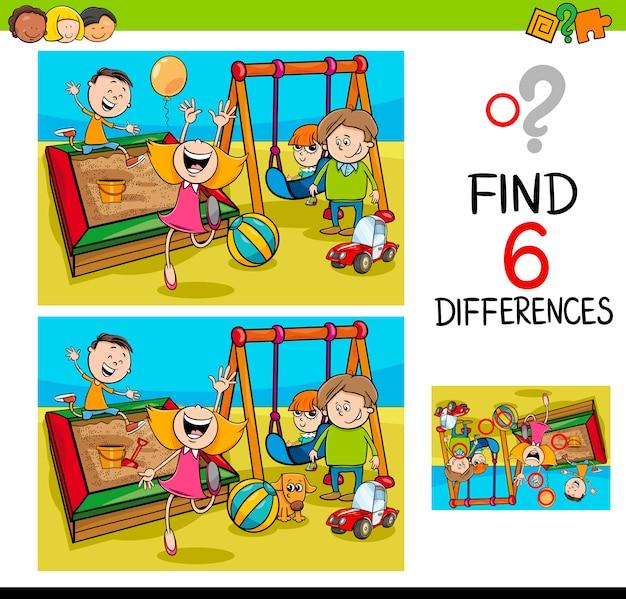 Игра с разницей с детьми