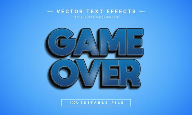 Редактируемый текстовый эффект game over Premium векторы