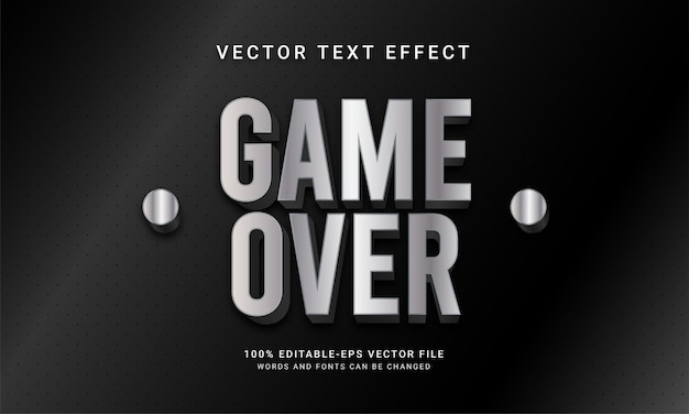 編集可能なテキスト効果をテーマにしたゲームオーバー