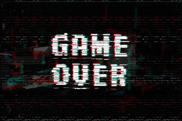 글리치 오버 게임 효과 텍스트