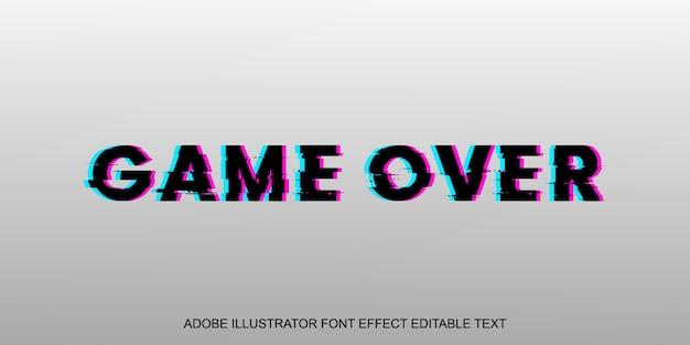 Game over glitch шрифт с редактируемым текстовым эффектом