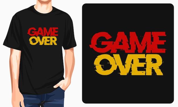 Игра окончена - футболка с рисунком