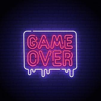 ゲームオーバーネオンサイン