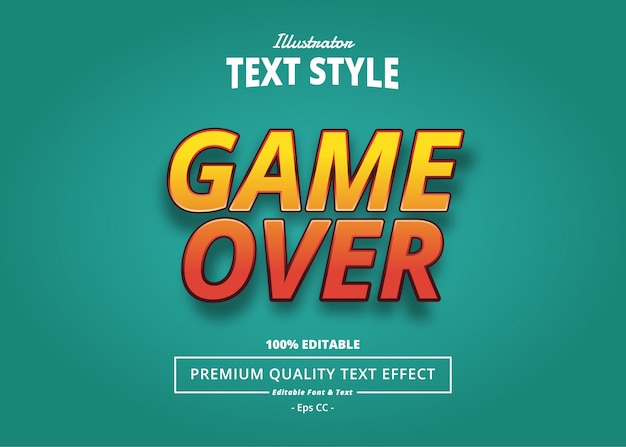 Эффект game over text