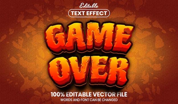 Игра поверх текста, редактируемый текстовый эффект в стиле шрифта