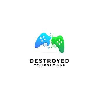 게임 패드 다채로운 로고 디자인 서식 파일