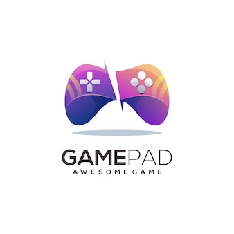 Game pad colorful logo illustration abstract