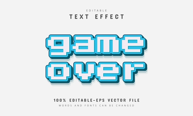 Game over pixel text effect