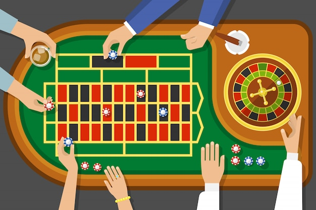 Game of roulette top view