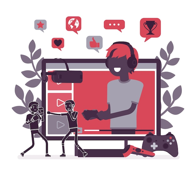 Game streamer boy