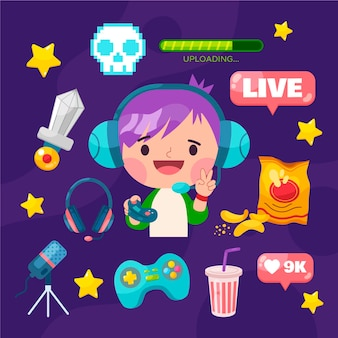 Game streamer elements pack