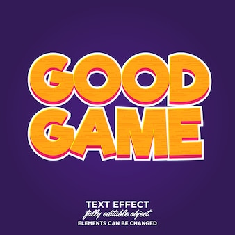 Game style text effect typography
