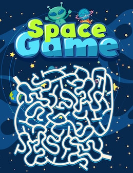 Game template with alien in space