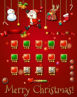 Game template with christmast objects