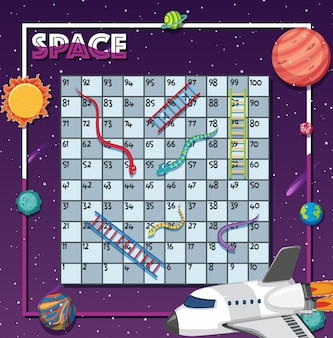 Game template with many planets