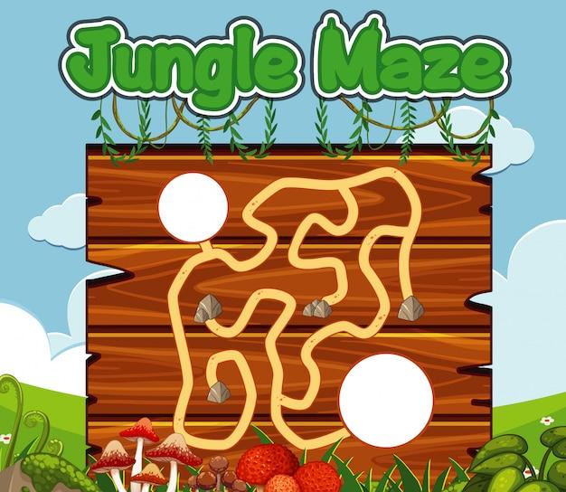 Шаблон игры с грибами и зеленой травой