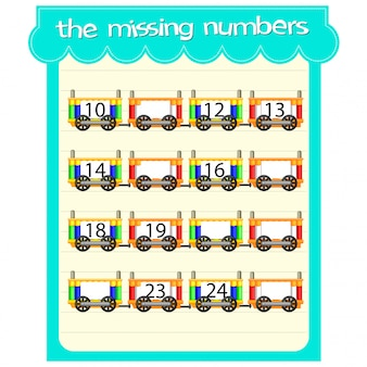 Game templates with missing numbers
