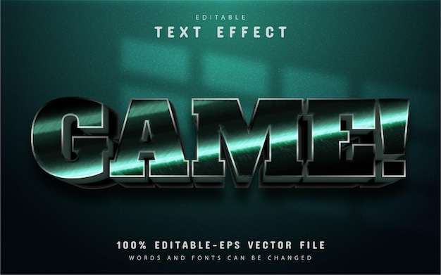 Game text, 3d text effect editable