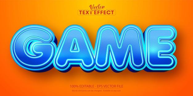 Игровой текст, редактируемый текстовый эффект в мультяшном стиле
