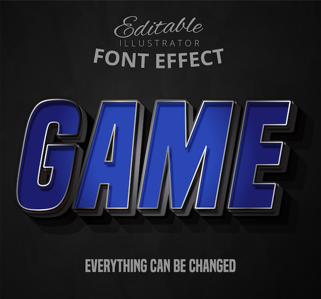Game text, editable font effect