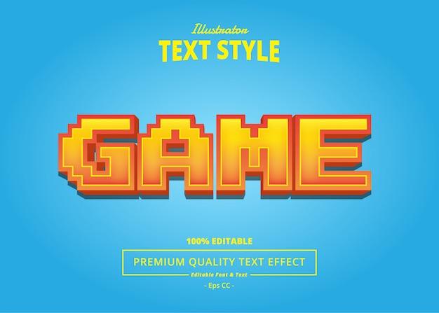 Текстовый эффект игры