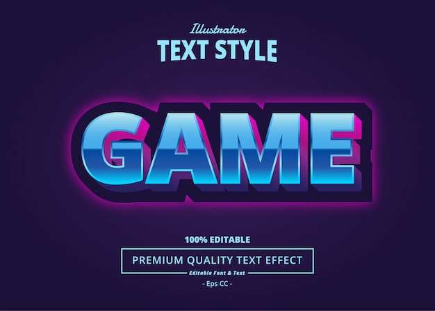 Game text effect