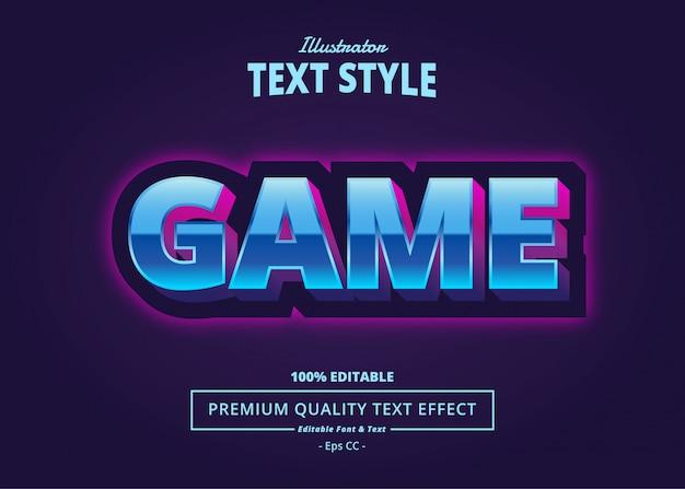Game text effect Premium Vector