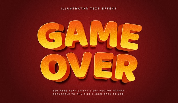 Game over text style font effect