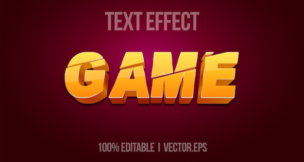 Game text style