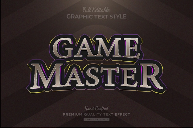 Game title fantasy rpg editable premium text effect font style