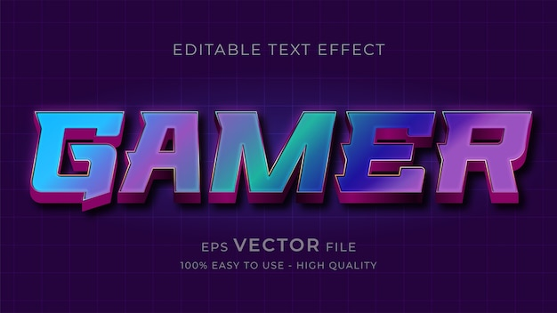 Game typography editable text effect