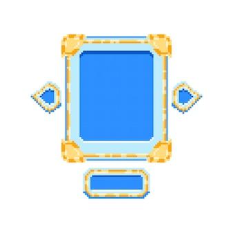 Игровой пользовательский интерфейс golden diamond board с пиксельным стилем