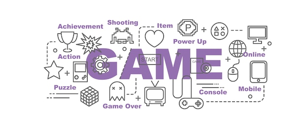 Game vector banner