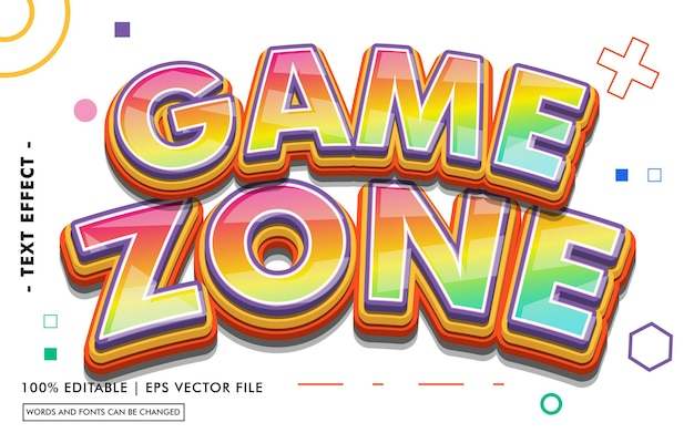Game zone text effect style