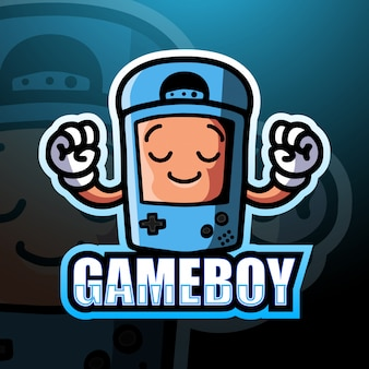 Gameboy mascot esport illustration