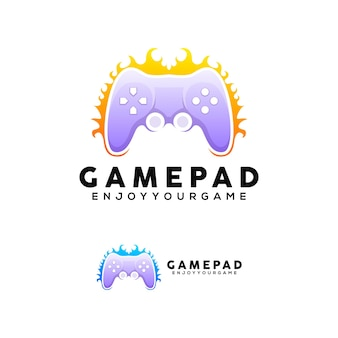 ゲームパッドのカラフルなロゴ