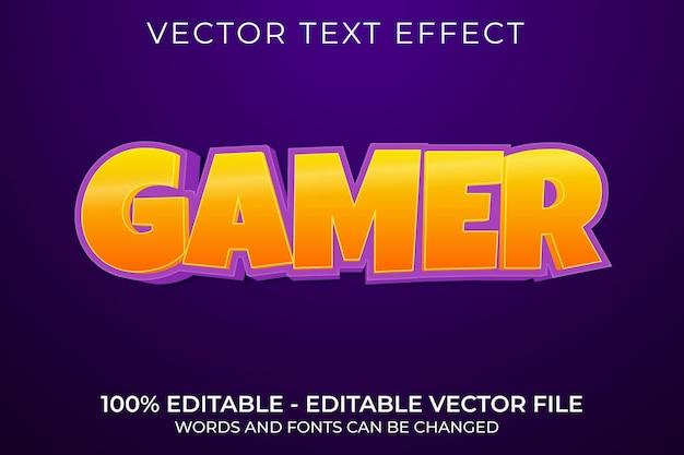 Геймер 3d редактируемый текстовый эффект