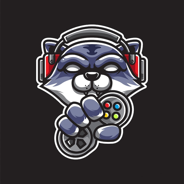 Gamer cat e sport logo