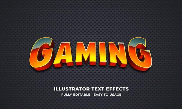 Gamer editable text effect