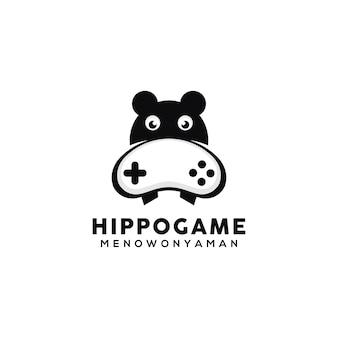 ゲーマーカバのロゴデザインテンプレート