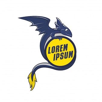 Дракон-талисман для gamer logo