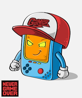 Gamer mascot, hand drawn