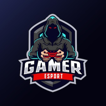 Gamer mascot logo