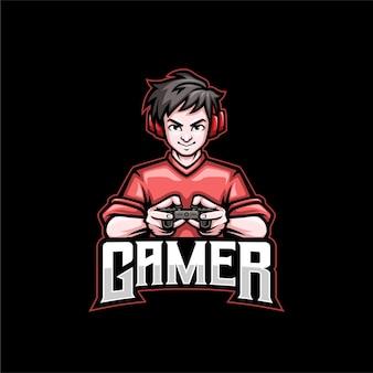 Геймер талисман логотип