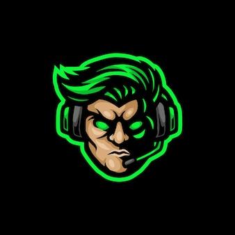 Логотип талисмана геймера