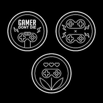 Значок монолитного игрока с классической консолью геймпада
