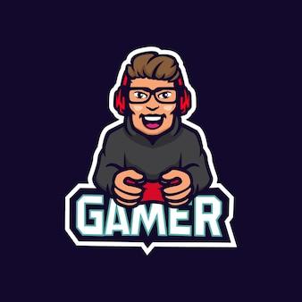 ゲーマープロプレーヤーeスポーツチームのロゴデザインエンブレム