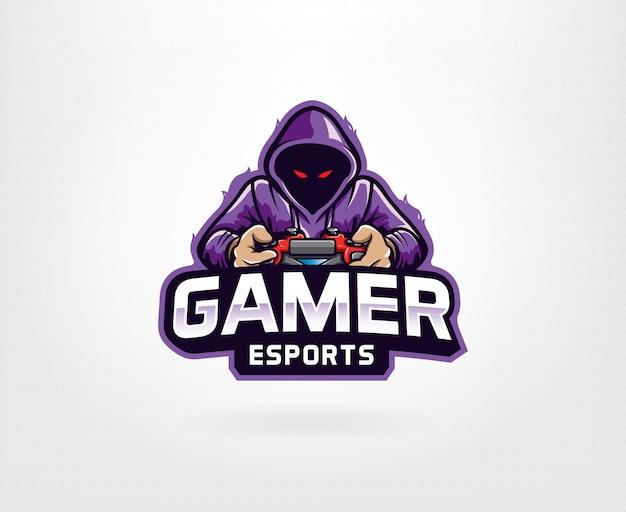 Геймер фиолетовый логотип